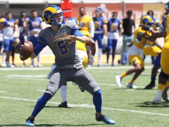 Angelo State University junior quarterback Charlie