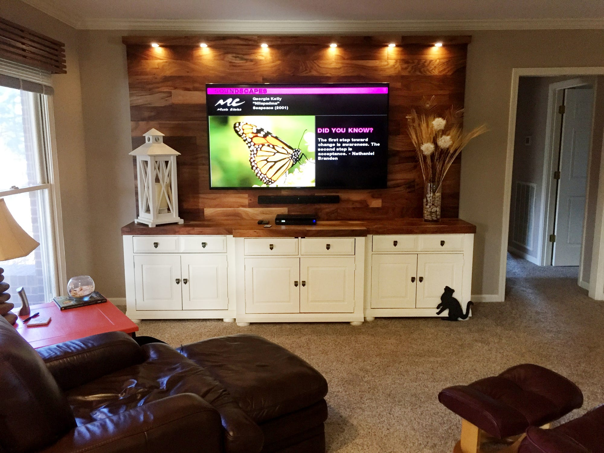 13 clever new uses for old entertainment centers rh tennessean com wall entertainment center with desk entertainment center with desk ikea