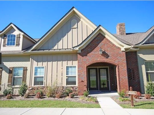 This two-bedroom Nolensville home is in the Bent Creek Cottages subdivision for residents ages 55 and older. The community has a pool.