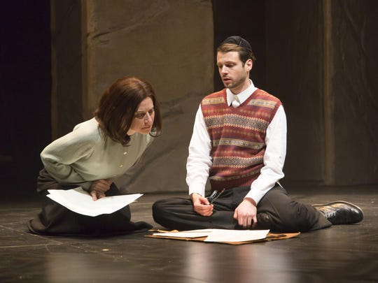 "Lena Kaminsky and Miles G. Jackson in a scene from ""My Name Is Asher Lev."""