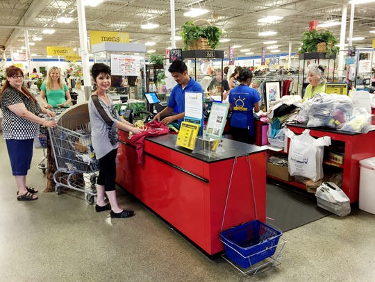 Shoppers in the Nolensville Road ThriftSmart find lots