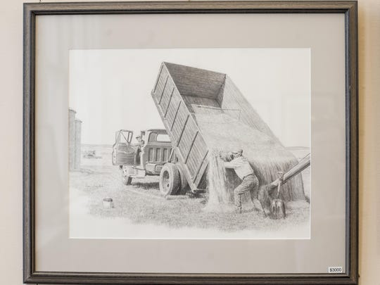 Don Greytak's work hangs in Havre's Old Library Gallery