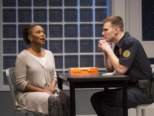 "Suzzanne Douglas and Mark Junek in a scene from ""American"