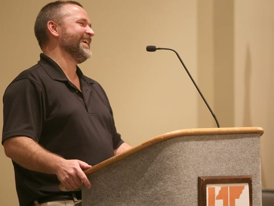 John Lindsey laughs while speaking about his son Trey