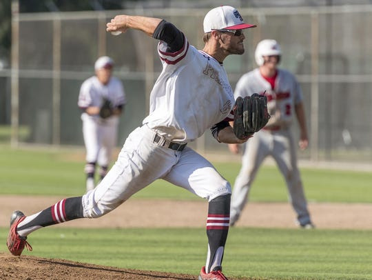 Mt. Whitney's Philip Dinis pitches against Hanford