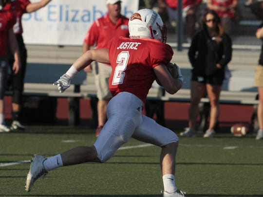 Aiden Justice of Beechwood takes it to the house on