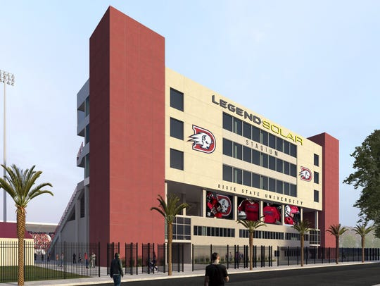 An artist's rendering of what Dixie State's three-level