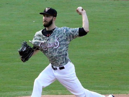 El Paso Chihuahuas pitcher Dillon Overton in action against the Sacramento River Cats Monday night.