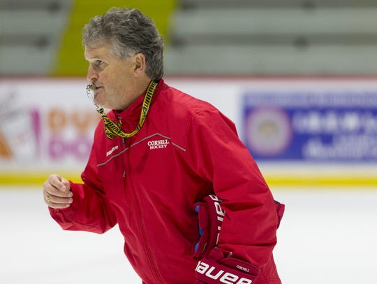 Cornell men's hockey coach Mike Schafer.
