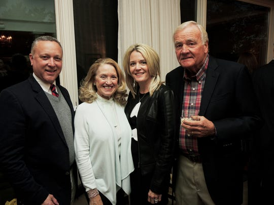 Jay Joyner, left, SuAnn Davis and Jillian and Johnny Frist at the 2018 Frist Gala Committee Kickoff, held at the home of Jennifer and Gus Puryear.