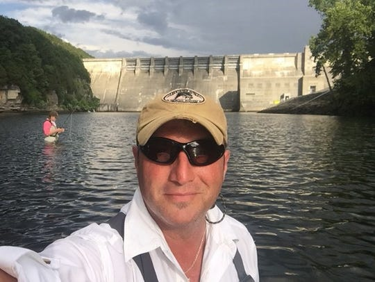 Tim Rushlow spends time on the Caney Fork River with
