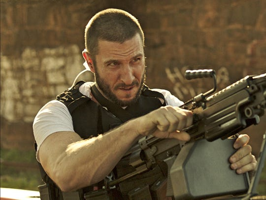 "Pablo Schreiber stars in ""Den of Thieves."""