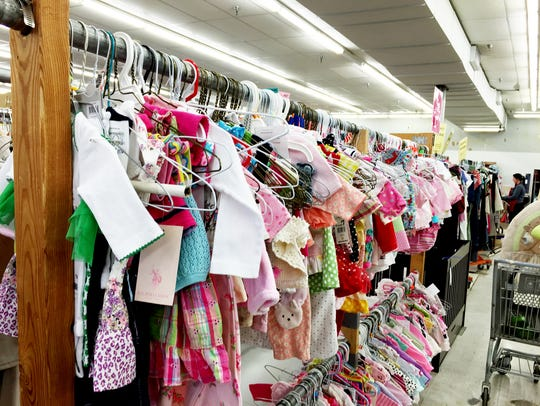Thousands of pieces of gently used  clothing show up at the pop up children's consignment sales in February and March.