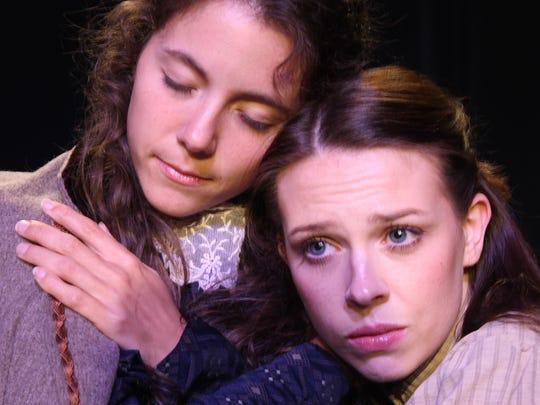 """Corinne Bupp, left, and Savannah Stein in """"Little Women."""""""