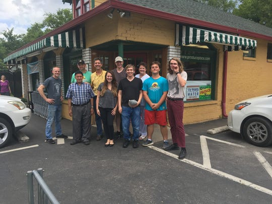 The Produce Place team stands out in front of the Sylvan Park area store, which is celebrating 30 years in business this week.