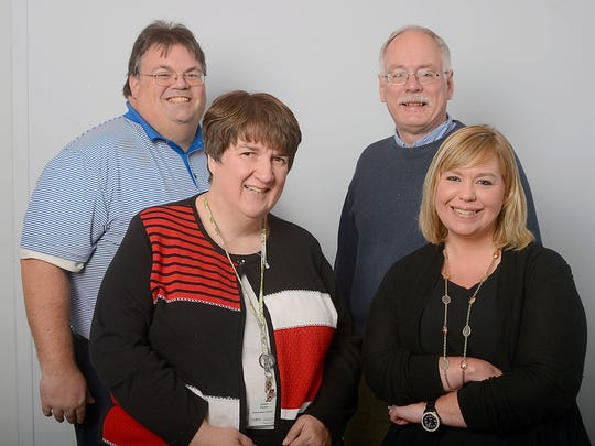 Regional reporters Dawn Parker (front left), Rachel Greco, Tom Thelen (back left) and Curt Smith cover the tri-county area.