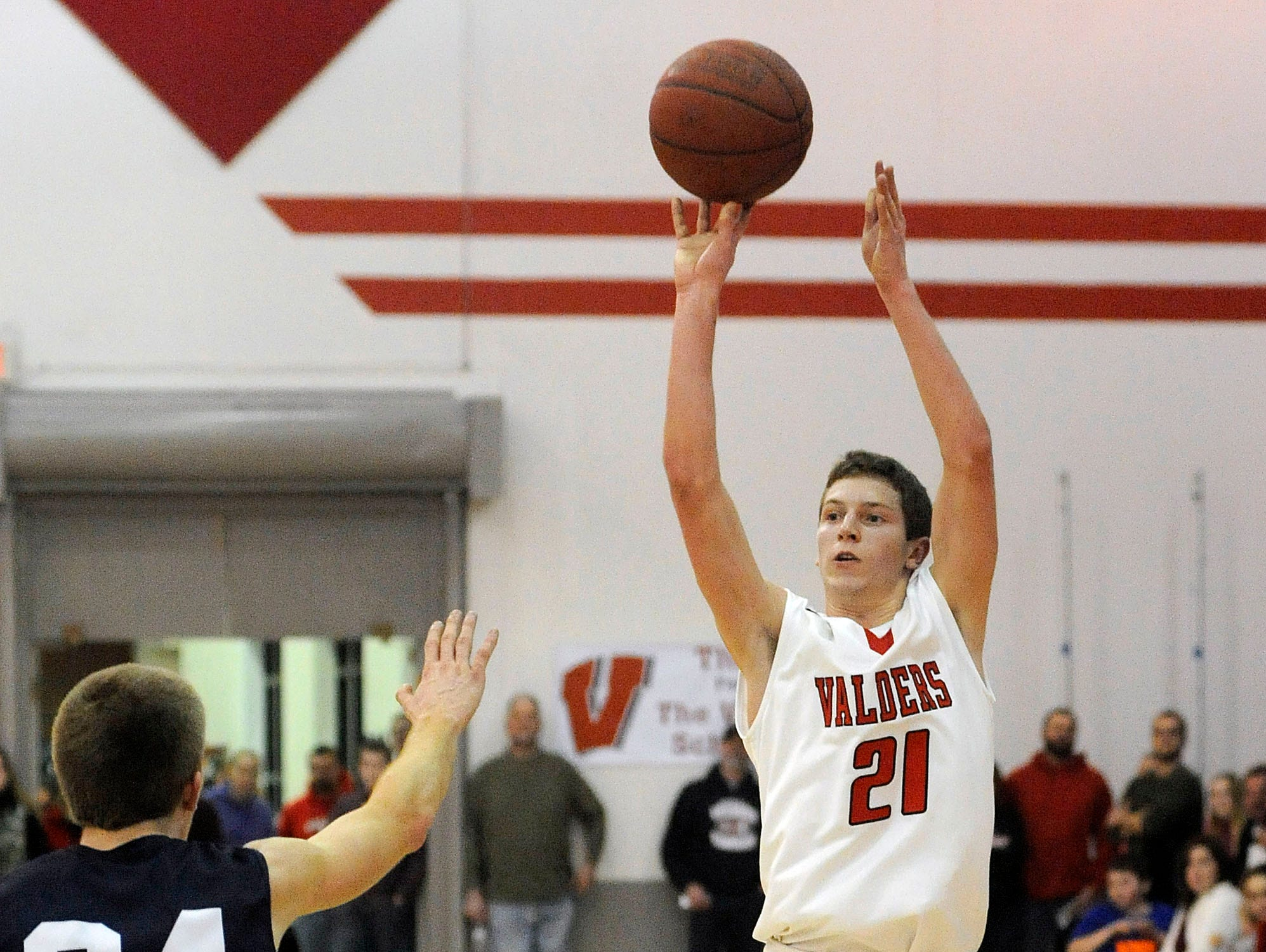 Valders' Thomas Schwoerer is the 2015 HTR Media Boys Basketball Player of the Year.