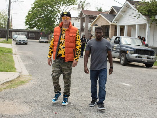 Will Ferrell, left, and Kevin Hart find the funny in