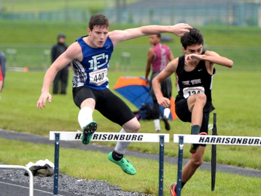 Fort Defiance's Matt Wonderley won the 55 hurdles and