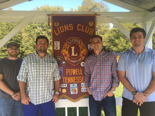 Powell Lions Club members Nick Webb, John Corum, Cory Payne and Steven Ross.