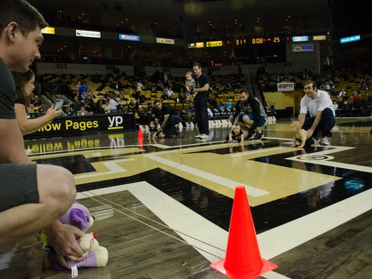 During halftime at UCF men's basketball vs. East Carolina,