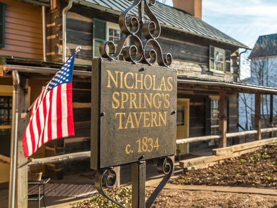 A former tavern in the 1880s now turned home is up
