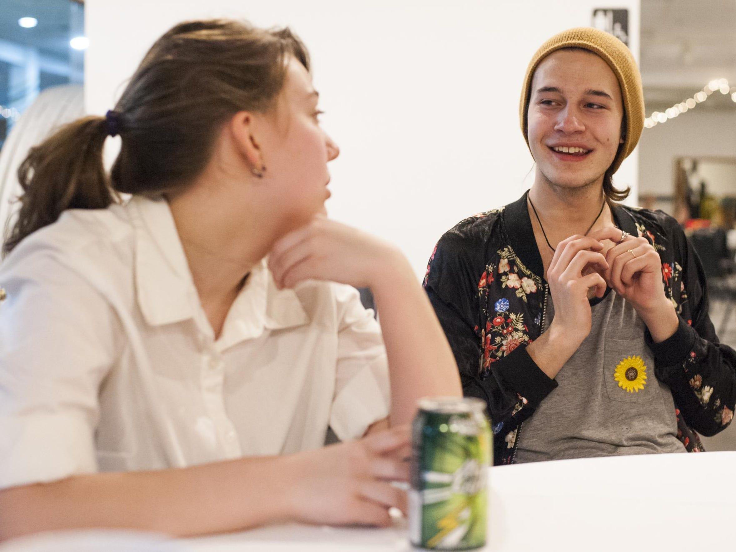 Echo Sundstrom laughs with Miranda MacKenzie at Future