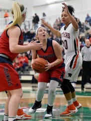 New Oxford's Presley Berryhill eyes the basket against