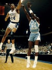 North Carolina Tar Heels guard Michael Jordan takes