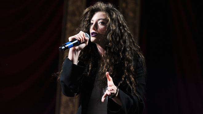 Lorde performs onstage at Coachella on April 28.