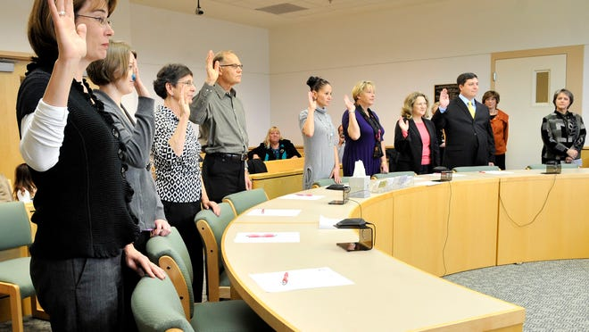 Court Appointed Special Advocates sworn in 2010 in the Marion County Juvenile Court in Salem. The advocates are volunteers who work with children in state care. The nonprofit that trains and recruits the volunteers is struggling to find funding stability.