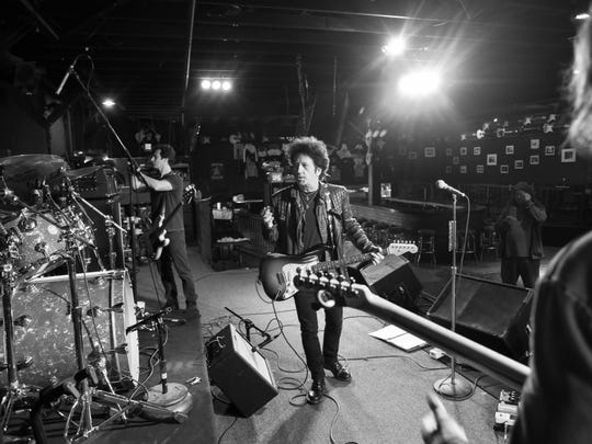 Willie Nile celebrates 35 years of making music by headlining the Stone Pony in Asbury Park NJ. Willie works through some songs with his band during the afternoon sound check on Friday June 5th.