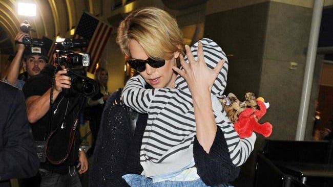 Charlize Theron with son Jackson