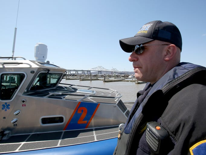 Lt. James Luciano of the Westchester County Police marine unit at the Tarrytown Marina April 16, 2014.
