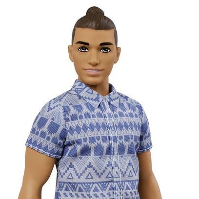 Barbie's boyfriend Ken gets a makeover: Man buns and new skin tones