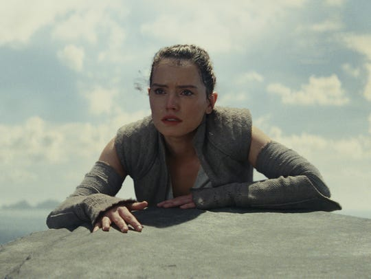 Rey (Daisy Ridley) is one of many characters struggling