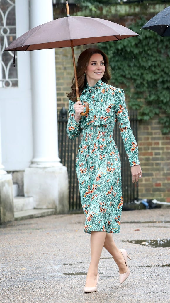 Duchess Kate making the most out of the soggy weather.