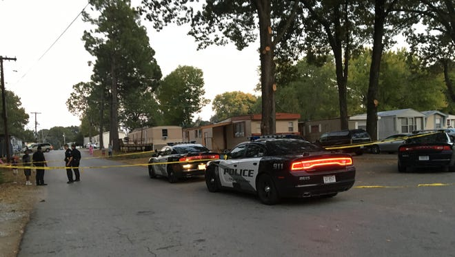 Police responded to Rolling Acres around 5:30 p.m. Friday. Police say they are looking for a suspect after one man was stabbed.