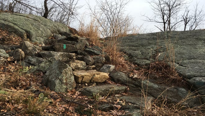 One section of the Long Path in Orange County's Harriman State Park features this stone staircase.