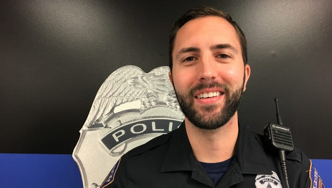 Randall Buck, a police officer in IMPD's North District, is participating in No-Shave November in 2017.