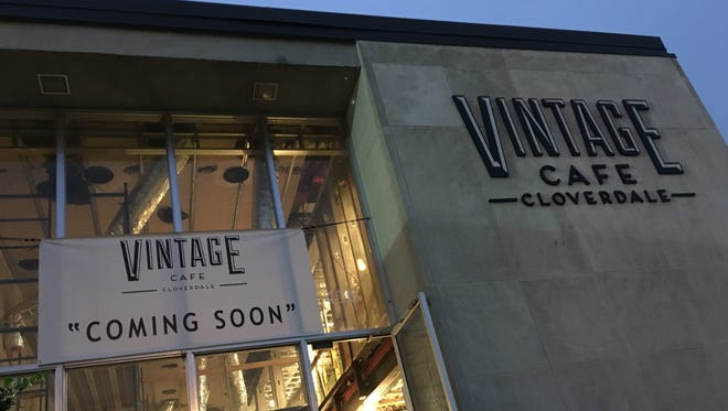 A former bank in Cloverdale is being converted into Vintage Cafe.