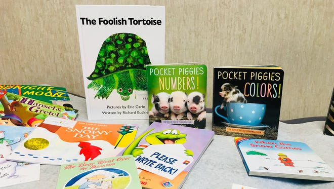 Books for Prevea Health's Reach Out and Read program on display at the healthcare provider's De Pere location.