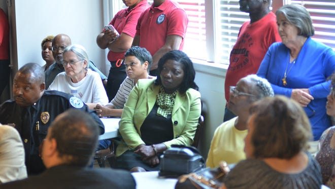 Citizen listen during the Police Chief Community Engagement Forum.