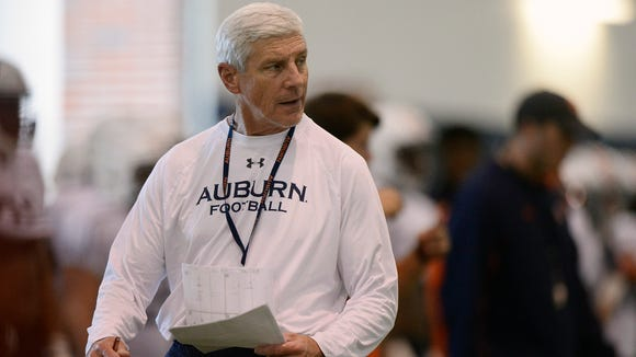 Auburn defensive coordinator Ellis Johnson has a press conference Sunday.