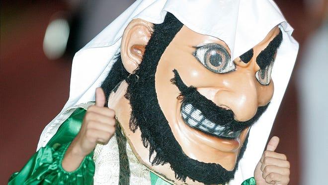 Coachella Valley High's Arab mascot appears at football and basketball games.