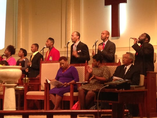 The St. Paul Singers perform Sunday morning as St.