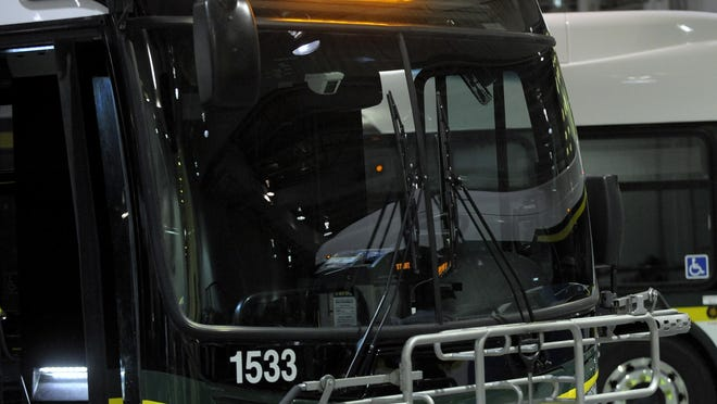 Highland Park Police Department is investigating after a passenger on a Detroit Department of Transportation bus washit by gunfire Wednesday morning.
