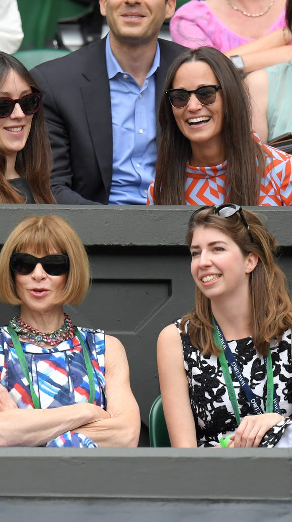Anna Wintour and Pippa Middleton at Wimbledon, and