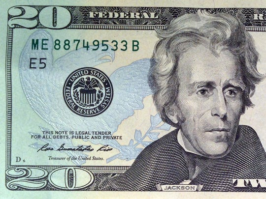 The redesigned $20 note was first issued in 2003. It