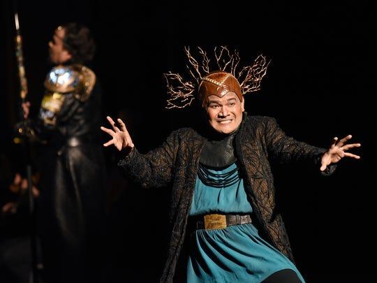 "Rodell Rosel as Loge in Arizona Opera's ""Das Rheingold."""